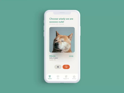 Puppies App 2 animal ui mobile ui mobile app ui ux web ui desgin ux  ui uidesign ui ux ui design puppy logo puppies pets pet mobile app design mobile apps logo illustrations design animation