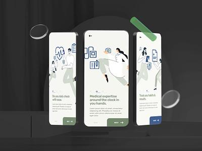 Procarement App -  Dark Mode health care app health care illustration animation ux ui design ui  ux development mobile app health app