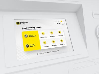 ATM UI display dashboard bank banking atm ui design