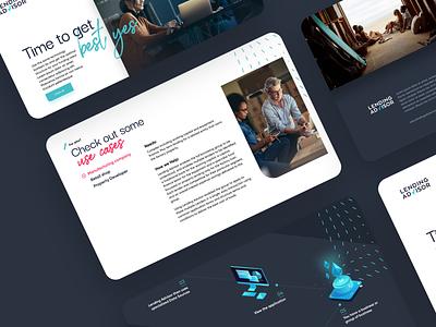 Lending Advisor uxui web design website webapp saas dashboard ux ui design