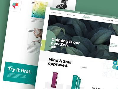 Fraktal webshop uxui package design branding packaging beauty web shop web web design ux ui design