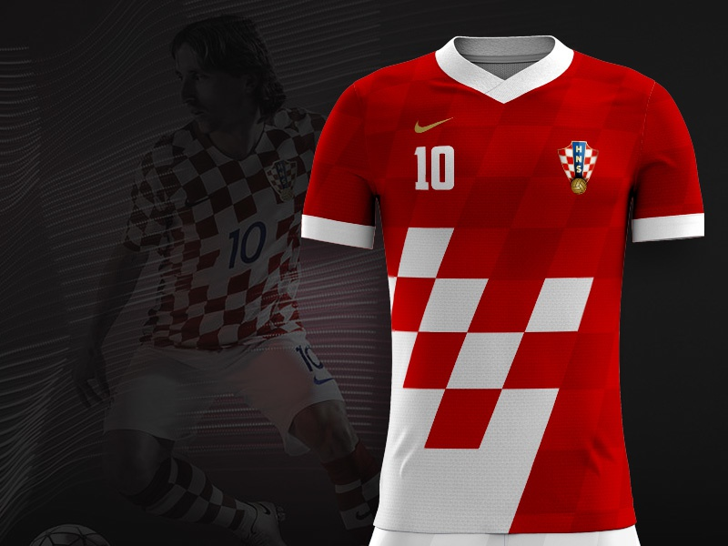 Fifa World Cup 2018 Croatian Football Kit Concept By Euroart93