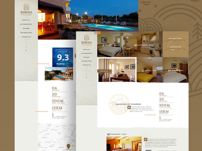 Barboska Guesthouse Website holiday design responsive website ux ui croatia istria holiday guesthouse