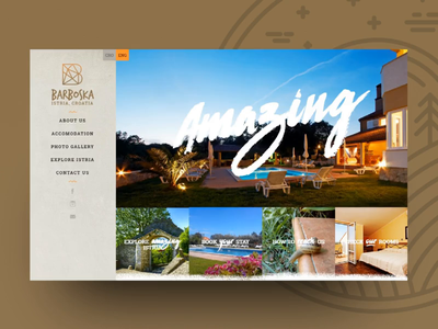 Barboska Guesthouse Website Scroll scroll responsive ui ux istria holiday design holiday guesthouse croatia