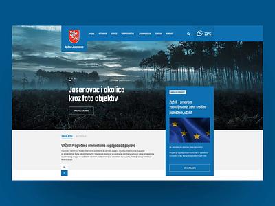 Local Municipality Website Scroll animation visual identity croatia development web development uxui responsive branding web site web design web ux ui design website