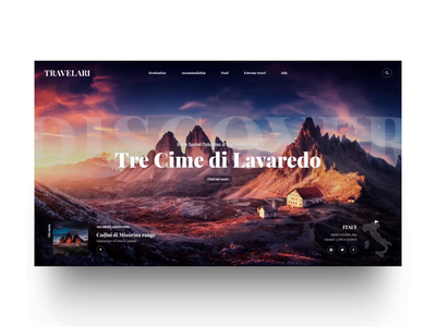 Free XD: Travelari Website Header Concept