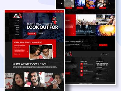 Spice Fm web Template web app ux ui design website branding