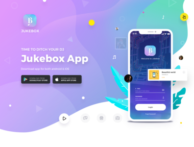 JUKEBOX 1x icon typography vector branding app ui app ui ux design sketch