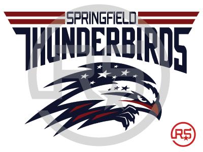 Springfield Thunderbirds Logo Concept 1 hockey springfield thunderbirds ahl sports branding pro sports mascot logo graphic design sports identity sports logo logo design