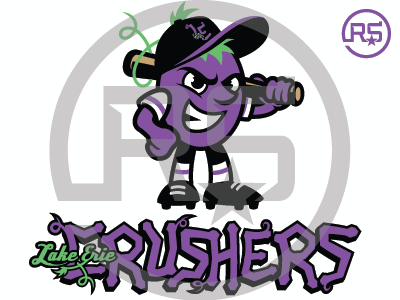 Lake Erie Crushers Concept Logo milb baseball lake erie crushers frontier league sports branding pro sports mascot logo graphic design sports identity sports logo logo design