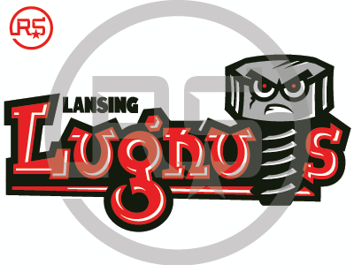 Lansing Lugnuts Concept Logo 1 baseball lansing lugnuts mwl milb sports branding pro sports mascot logo graphic design sports identity sports logo logo design