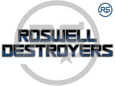 Roswell Destroyers Rebrand Concept Wordmark football roswell destroyers wfa sports branding semi-pro sports mascot logo graphic design sports identity sports logo logo design