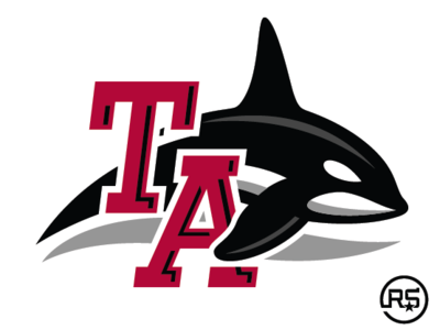 Tabor Academy Seawolves Secondary Logo mascot logo sport branding logo