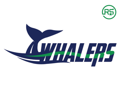 South Coast Box Lacrosse League Whalers lacrosse artwork sports logo sports identity graphic design logo design sports branding mascot logo