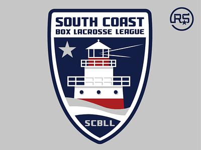 South Coast Box Lacrosse League Logo box lacrosse lacrosse artwork sports logo logo design graphic design sports identity sports branding mascot logo