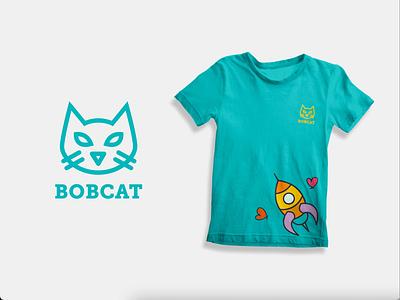 Bobcat minimal vector logo design branding