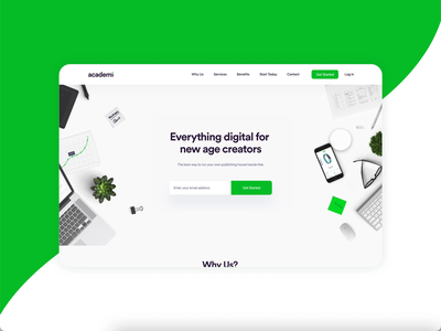Academi Website Concept webdesign ui minimal prototype xd design branding design