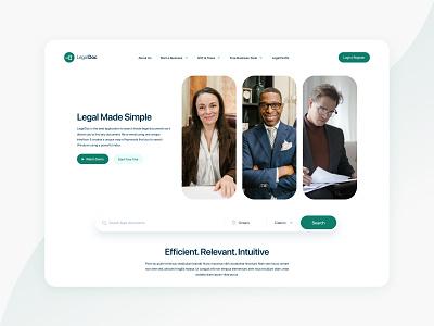 LegalDoc Website website design logo xd design minimal ui design