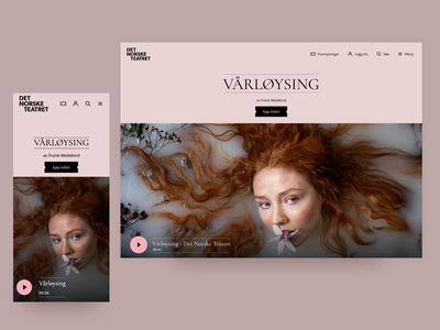 Redesign Theatre Branding & Website typography rebranding uxdesign pink branding uidesign theatre webdesign