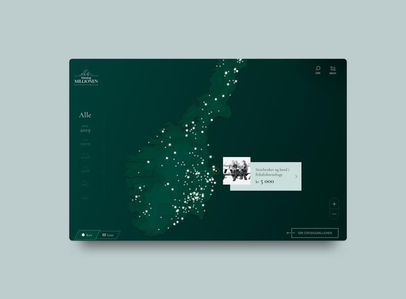 Statskogmillionen illustration maps monocrome monocromatic mapdesign ui uidesign uxdesign ux webdesign