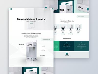 Ingentingshop.no (nothingshop) clean graphic design uxdesign awareness uidesign webdesign webshop