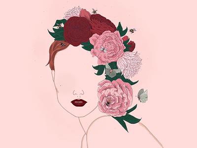 Flowers 2 digital art flower crown freehand procreate procreate art drawing illustration flowers