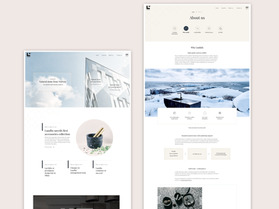 Lundhs.no website web design sketch branding design ui ux uxdesign uidesign webdesign