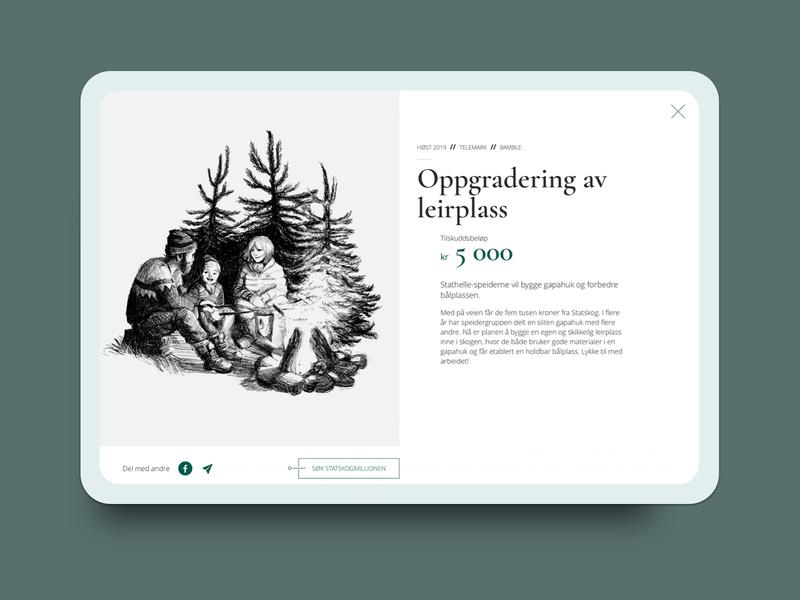 Statskogmillion1 simplistic clean ui web design ui design uidesign uxdesign ux webdesign
