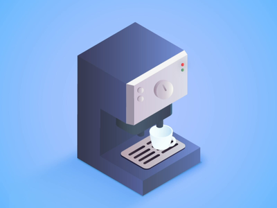 Ideal Office Corners: Coffee, Coffee, Coffee jindesign teamtvt design isometric illustration vector office working pantry coffee machine coffee