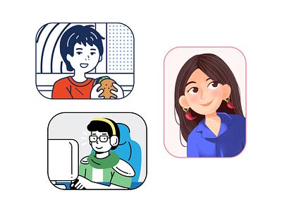Meet the Singapore Team jindesign character illustrator photoshop potrait teamtvt character design illustration vector design