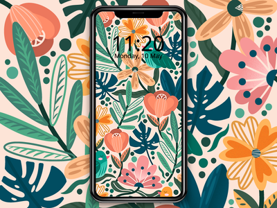 Floral Joy vector nature pattern pattern design freebie illustration plant illustration floral floral pattern wallpaper mobile the visual team jin design