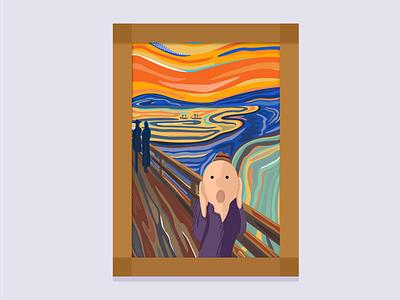 The Tony Art Gallery: Tony's Scream the visual team gallery art graphic design vector illustration jin design