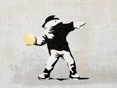 The Tony Art Gallery: Rage, The Ball Thrower tony the visual team streetart vector design illustration jin design