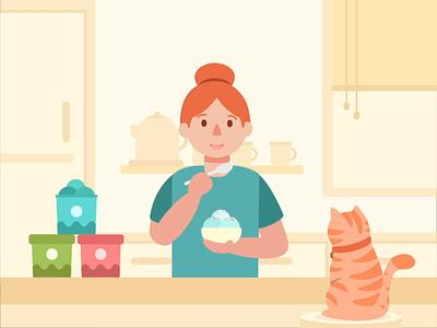 National Ice Cream Day design motion graphics animation national ice cream day