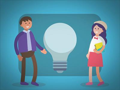 Swap Ideas day animation human illustration bulb ideas swap ideas day