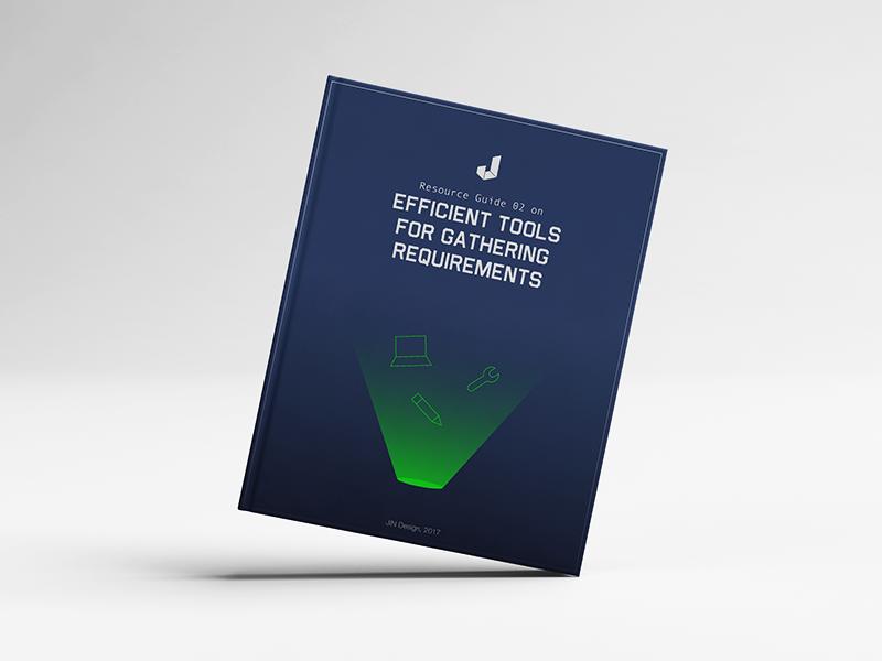 Ebook 02: Efficient Tools For Gathering Requirements book jin design design inspirations ui ux design read freebie ebook