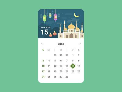 Hari Raya Puasa calendar muslim hari raya ux ui jin design