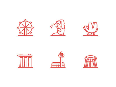 Singapore Icons singapore icon visual freebie ui ux jin design