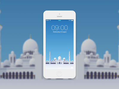 Selamat Hari Raya Haji hari raya mosque wallpaper ux jin design ui freebie illustration