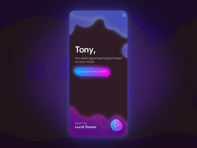Lava Lamp Music App - Transition and Play