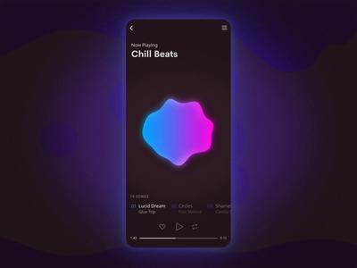 Lava Lamp Music App - Interaction