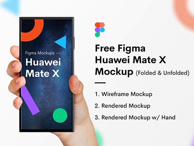 Huawei Mate X Figma Mockup - Freebie huawei mate x unfolded folded wireframe download free freebie figma mate x huawei hand mockup phone mockup phone mockup jin design