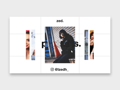Zed's Portfolio Website jin design motion graphic minimalist photography website ux ui