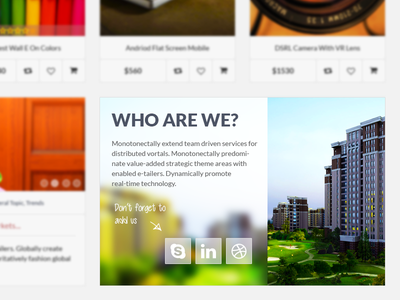 CleanUI - Who are we clean glass ecommerce shop ui design website about company