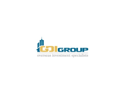 GDI Group logo real estate logo investment overseas group luxury building home golden gdi group corporate logo