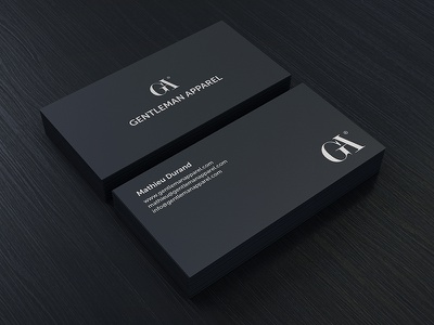 Gentleman Apparel Business Card gentleman apparel business card black white simple minimal
