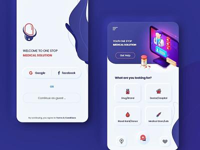 Medicoz app UI redesign uiuxdesign uiux colorful neumorphic app ui flat clean design