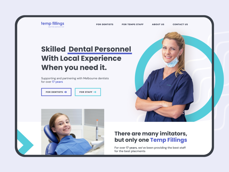 Dental Clinic Web Site doctor dental clinic clinic medical dental dental care minimal web design ui