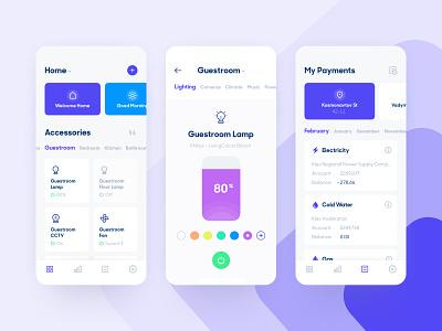 Smart Home App ios10 application user experience designer user interface design mobile app concept clear home mobile smarthome ui ios app