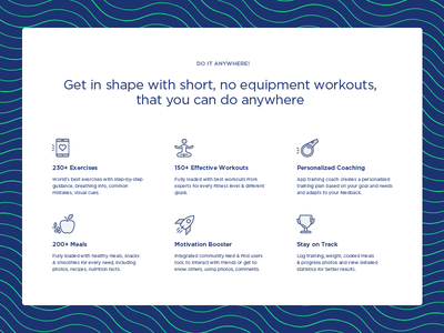 Do it anywhere! nutrition fitness web ui sport card stroke outline icon